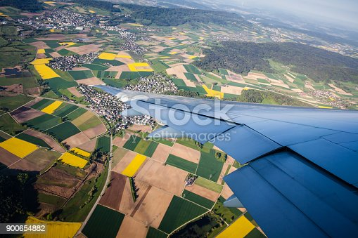 900763322 istock photo Yellow fields from the air in spring 900654882