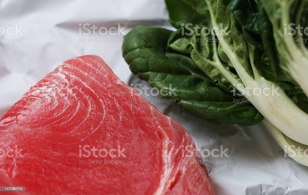 Yellow fin tuna steak royalty-free stock photo