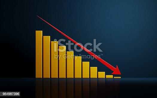 904389218istockphoto Yellow Financial Growth Bar On Dark Blue Background 954987396
