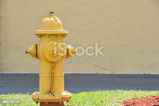yellow fire hydrant in Miami