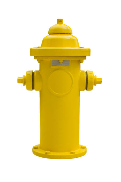 Yellow fire hydrant on a white background. Yellow fire hydrant on a white background. Isolated object fire hydrant stock pictures, royalty-free photos & images