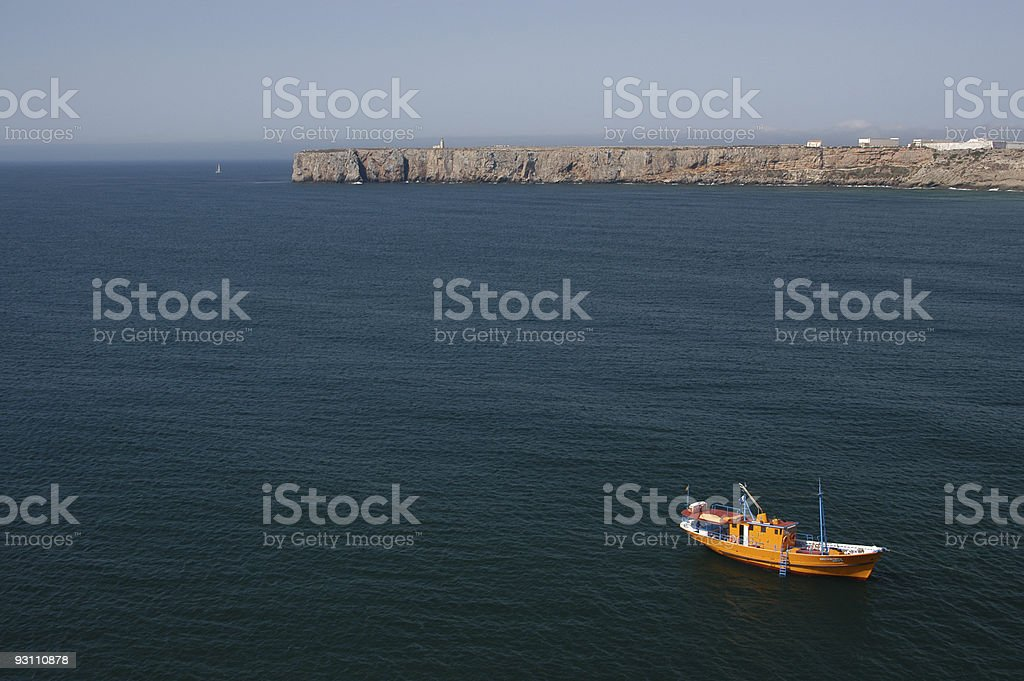 Yellow fishing boat in Portugal - Royalty-free Algarve Stok görsel
