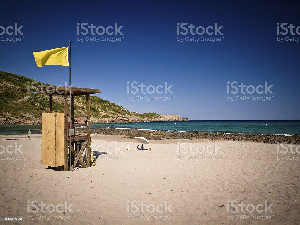 Bandiera gialla - foto stock