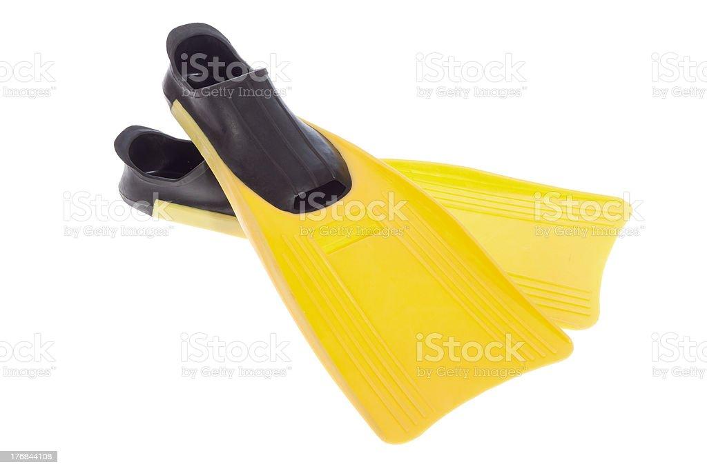 Yellow Flippers stock photo