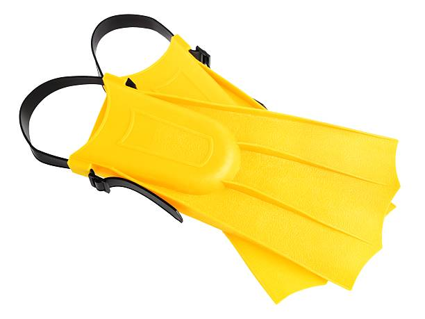 Yellow flippers Yellow flippers isolated on white background diving flipper stock pictures, royalty-free photos & images