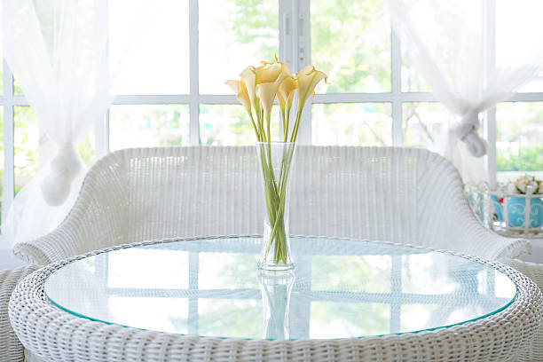 Yellow flower in vase on table and window sill background picture id500023281?b=1&k=6&m=500023281&s=612x612&w=0&h=a1omsylydsxx1q4 xuxyu4hjlpkhlobmydi0s1deivi=