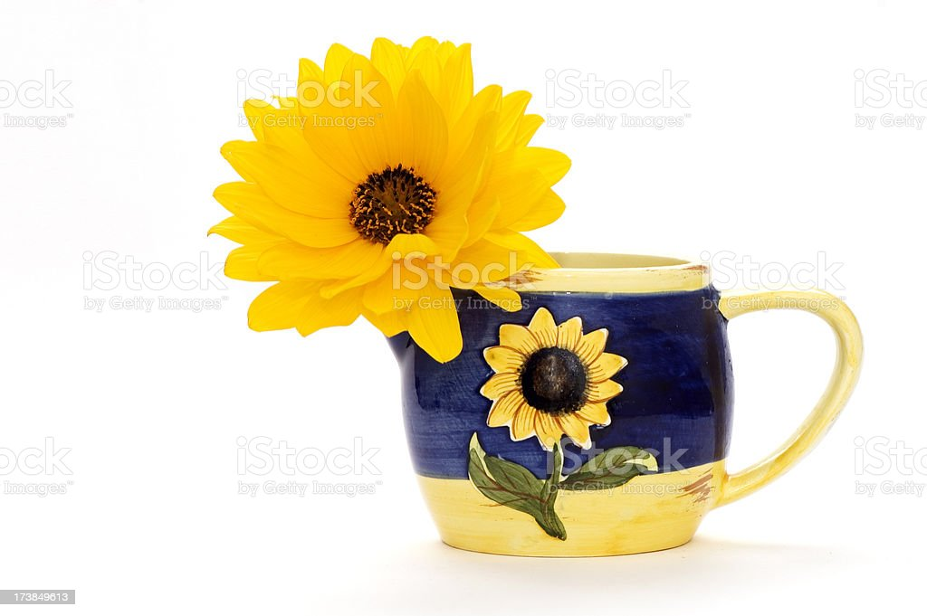 Yellow Flower in Vase royalty-free stock photo