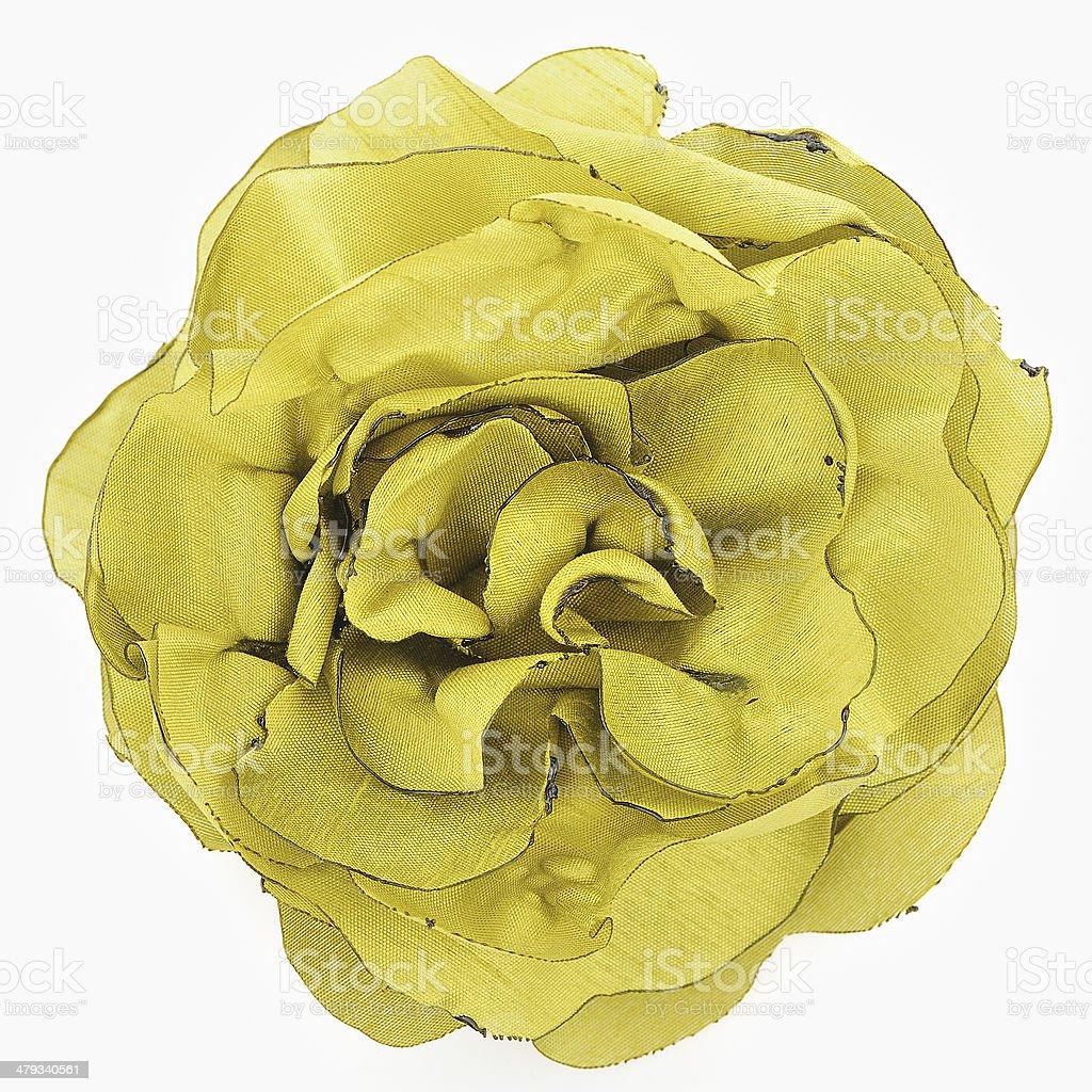 Yellow flower of silk stock photo