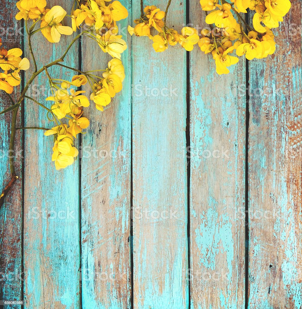 Yellow Flower With Vintage Background Stock Photo ...