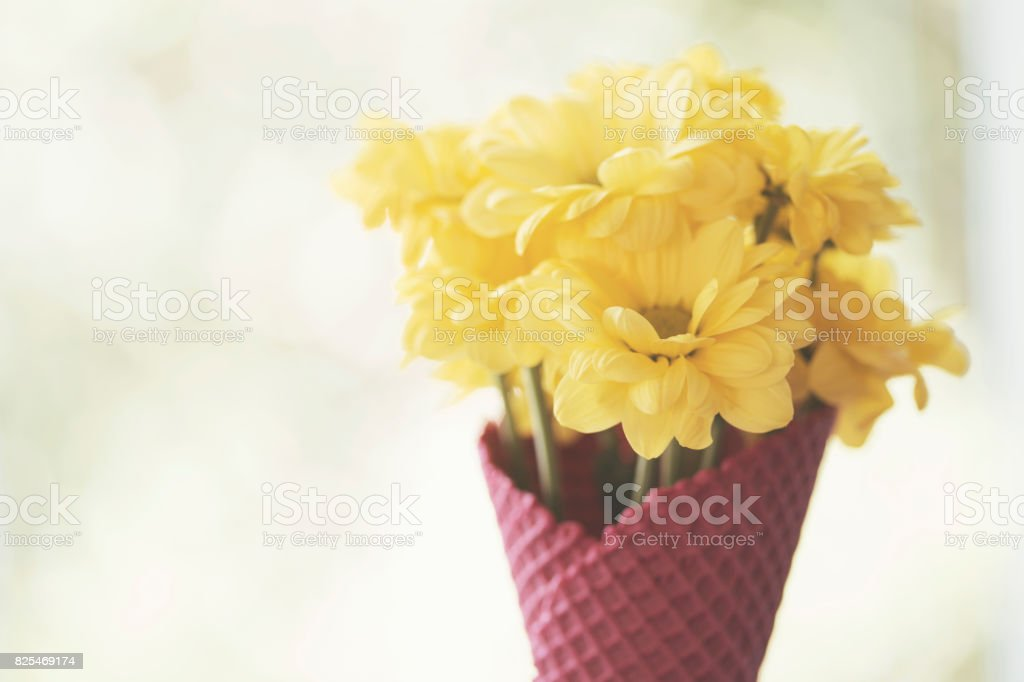 Yellow Flowers And Pink Cornet Stock Photo Download Image Now Istock