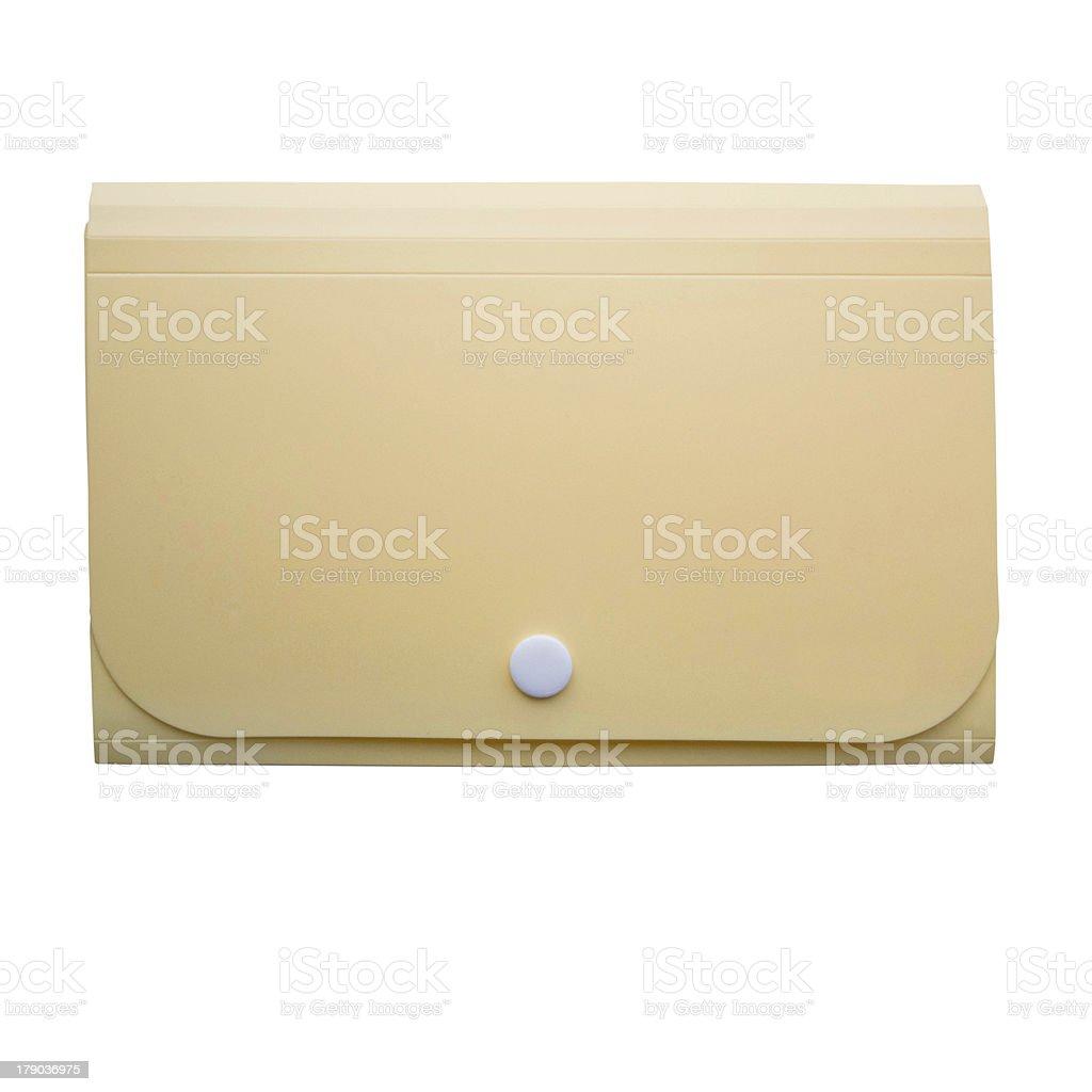 yellow folder on isolated background royalty-free stock photo