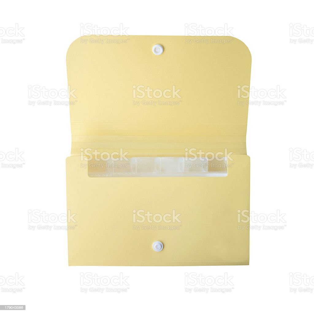 yellow folder on isolated background royalty-free stock photo