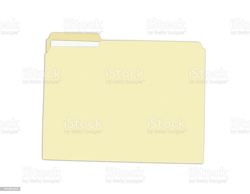 Yellow Folder royalty-free stock photo