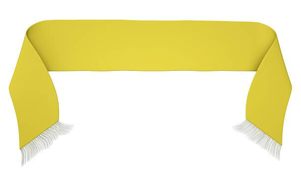 Jaune écharpe de foot sur fond blanc - Photo