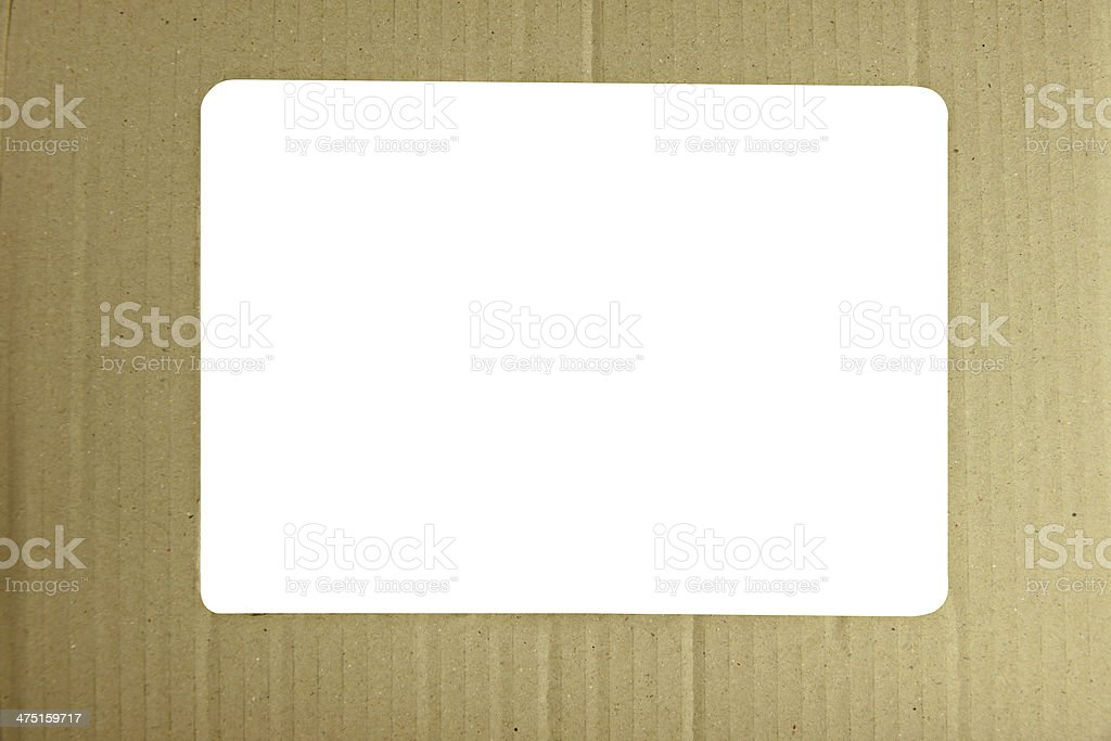 Yellow frame of paper box texture. royalty-free stock photo