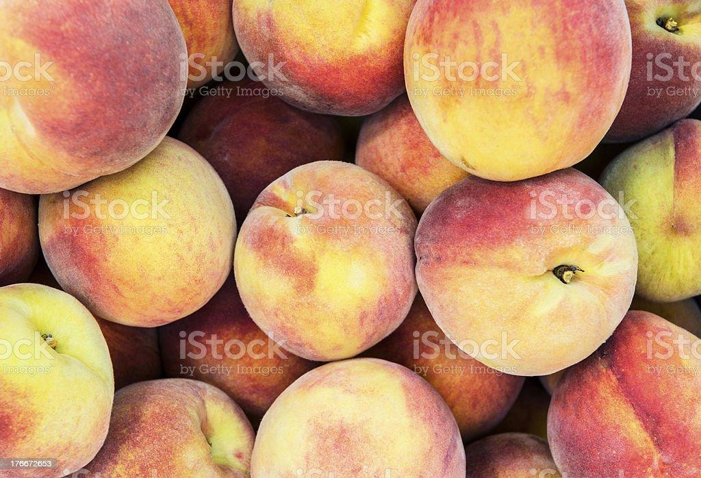 Yellow Freestone Peaches royalty-free stock photo