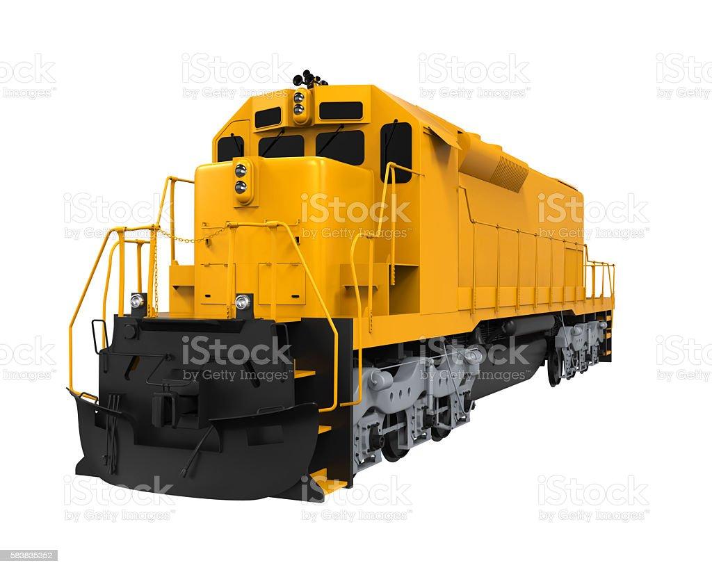 Yellow Freight Train stock photo
