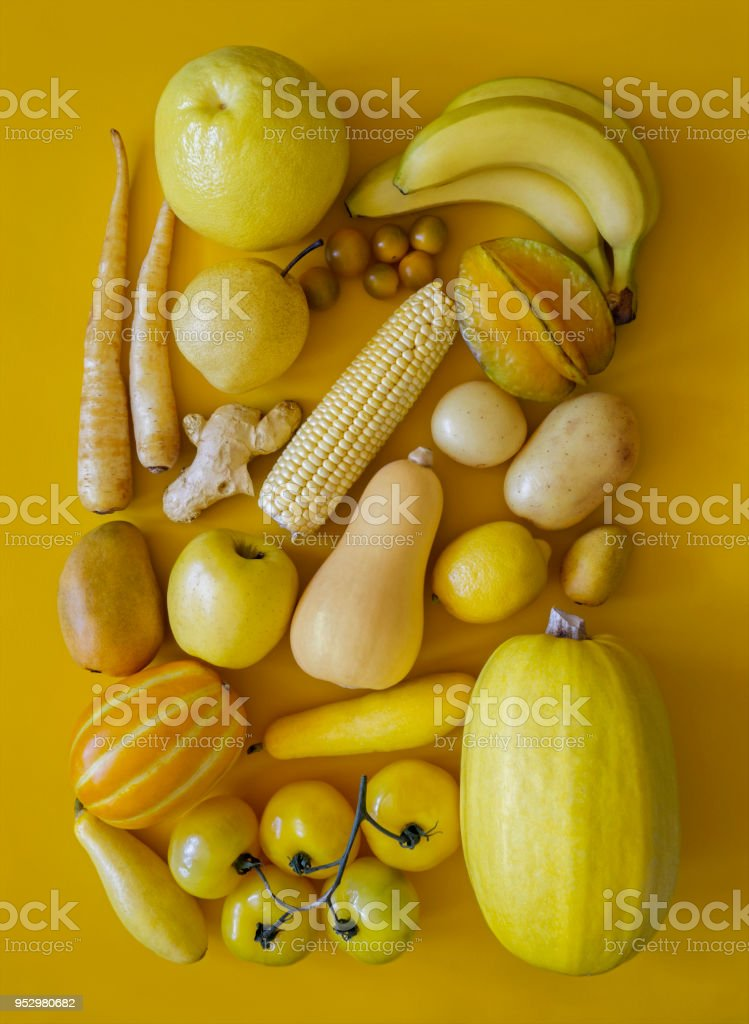 Yellow Fruits And Vegetables Stock Photo - Download Image ...