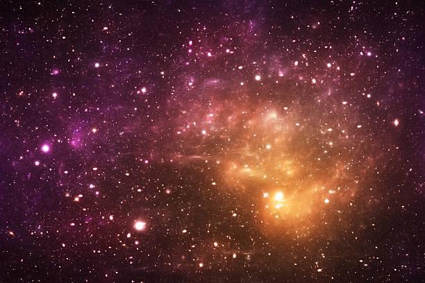 Yellow galaxy stock photo