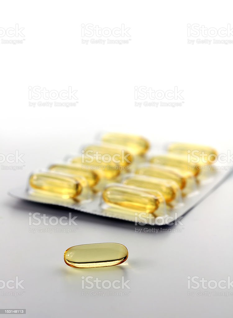 yellow gel pill royalty-free stock photo