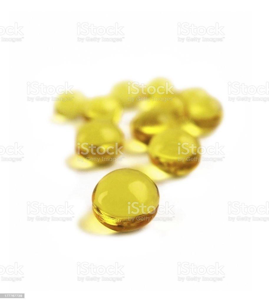 Yellow gelatin pills royalty-free stock photo