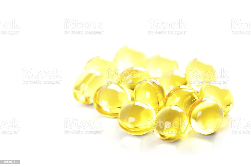 yellow gelatin pills royalty-free stock photo