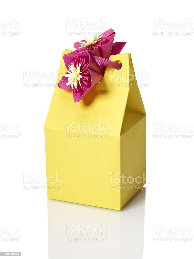 Yellow Gift Box royalty-free stock photo