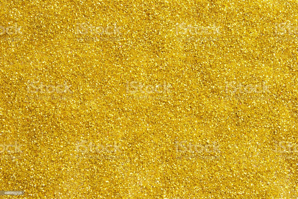 Yellow Glitter For Background Stock Photo