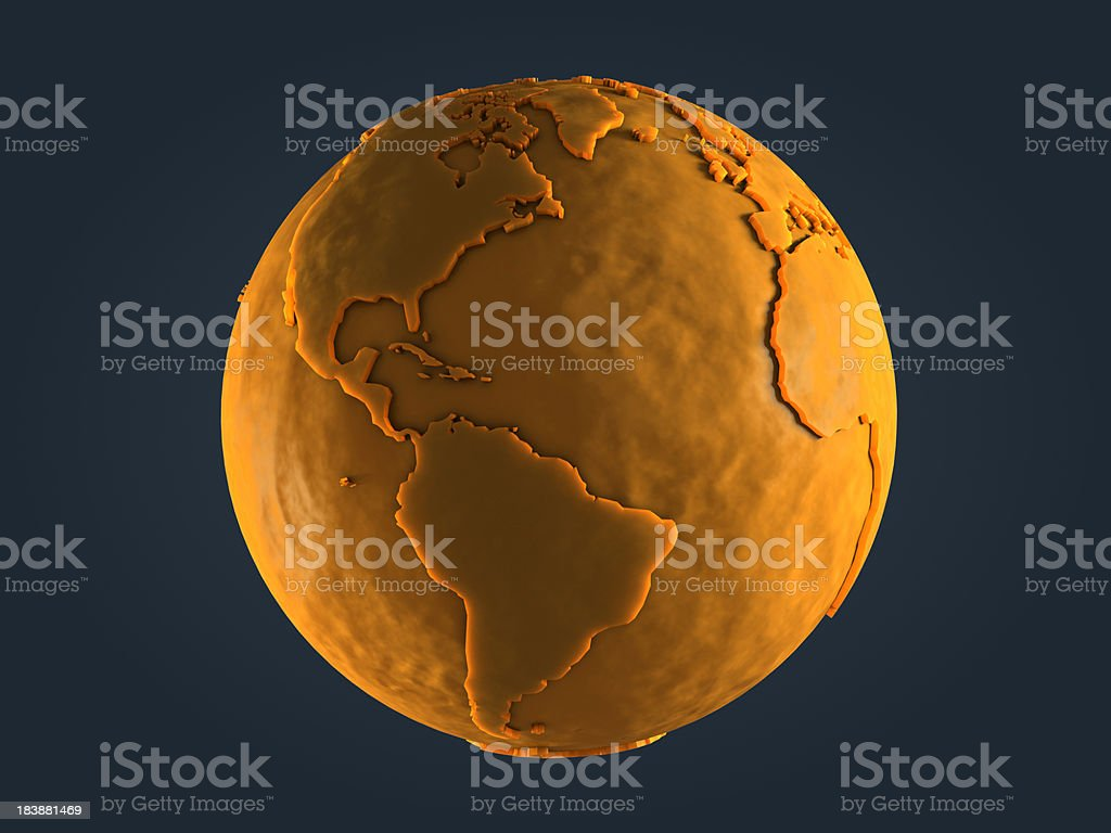 Yellow Globe - America stock photo