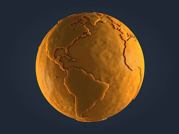 Yellow Globe - America stock photo