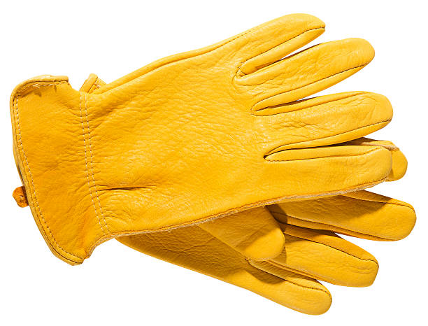 Yellow Gloves stock photo