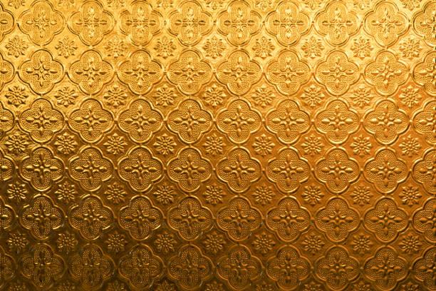 gelb gold blume vintage glas für abstrakte struktur und hintergrund - damast wand stock-fotos und bilder