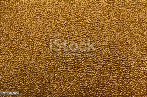 istock Yellow gold leather texture. Yellow gold leather bag. 521616920