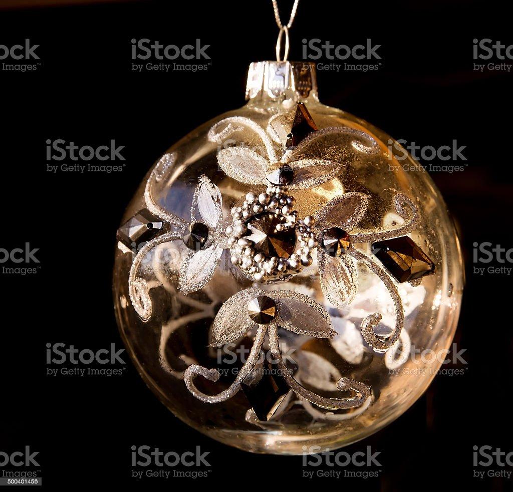 Albero Di Natale Nero E Oro.Giallo Oro Di Natale Abete Giocattolo Isolato Su Sfondo Nero