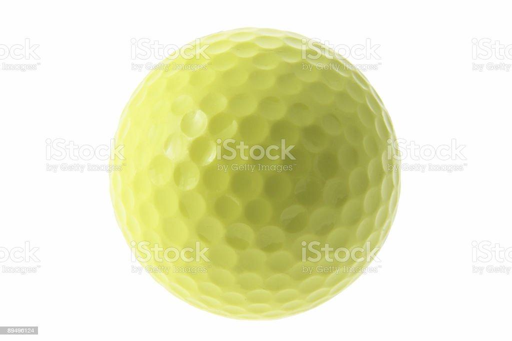 Yellow Golf Ball royalty free stockfoto