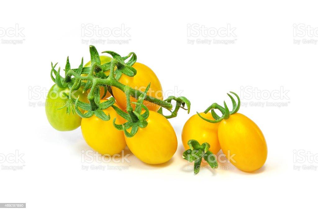 Yellow grape tomato. stock photo