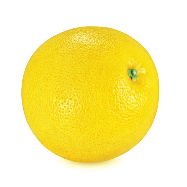 白い背景に分離された黄色のグレープフルーツ - グレープフルーツ ストックフォトと画像