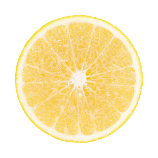 黄色のグレープフルーツの部分にホワイト - グレープフルーツ ストックフォトと画像