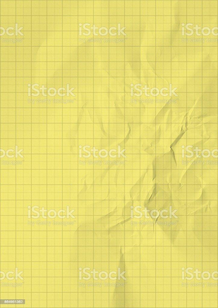 Yellow graph paper background texture – zdjęcie