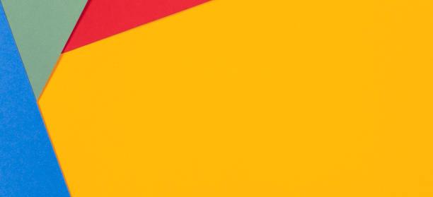 fond de texture de papier de couleur rouge vert bleu jaune - fond multicolore photos et images de collection
