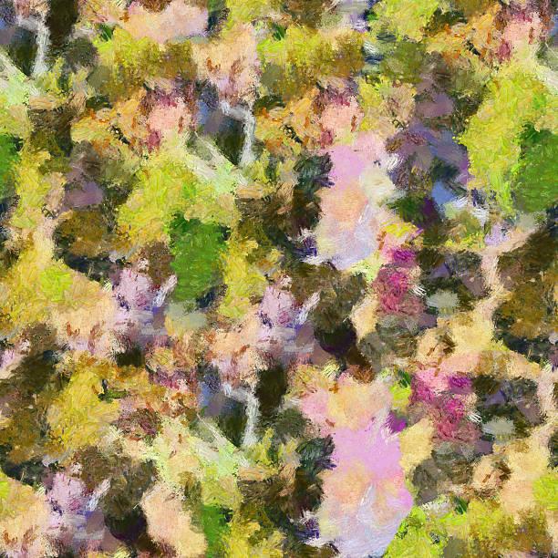 yellow green lila abstrakte nahtlose muster-öl massieren textur gemälde - monet bilder stock-fotos und bilder