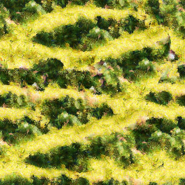 gelb grüne streifen nahtlose muster textur ölmalerei - monet bilder stock-fotos und bilder