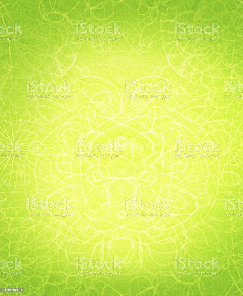 Yellow Green Swirl Pattern Background royalty-free stock photo