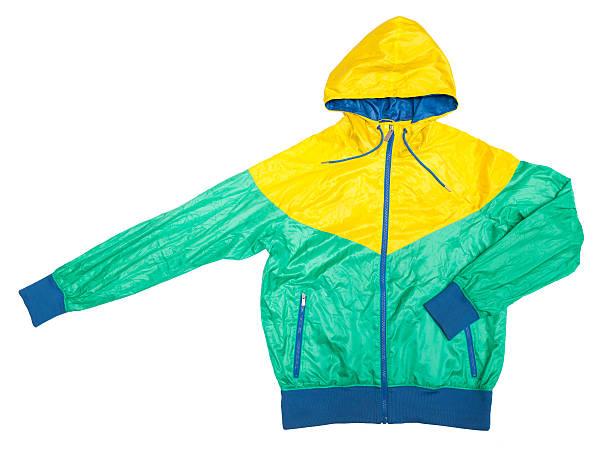 yellow green windjacke, wasserfeste jacke mit durchgehendem reißverschluss - zip hoodies stock-fotos und bilder
