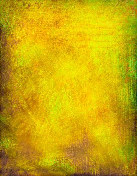 Grunge jaune fond peint - Photo
