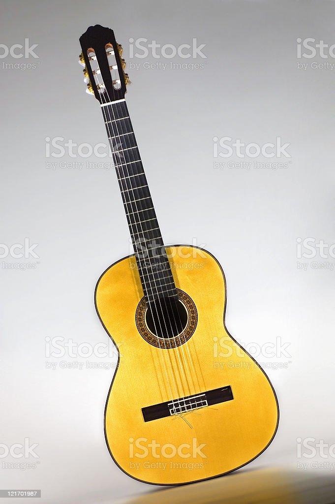 Yellow Guitar stock photo