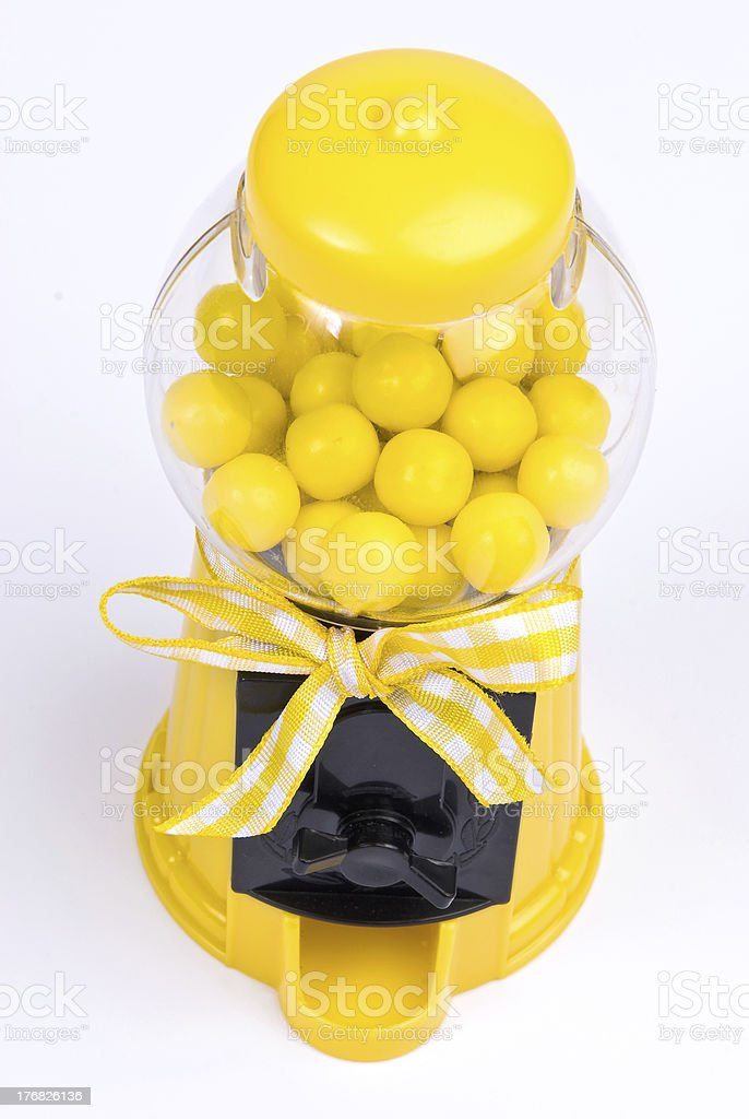 Yellow Gumball Machine royalty-free stock photo