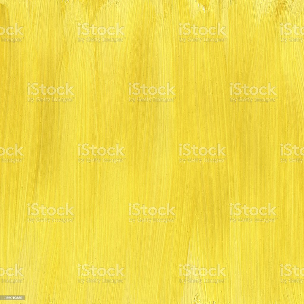 Yellow hand painted acrylic background royalty-free stock photo