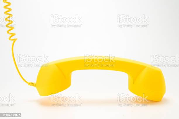 Yellow handset isolated on white picture id1256068875?b=1&k=6&m=1256068875&s=612x612&h=rfxpgmky0ysmhzbhuk dctswky8mrkmelvbmmscvgas=