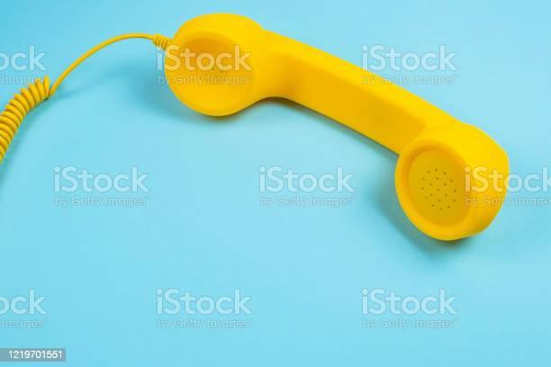 Yellow handset on a blue background picture id1219701551?b=1&k=6&m=1219701551&s=612x612&h=6qqvavd9zu9tgnbd8x npljytw5mu pl21ktcm3mek0=